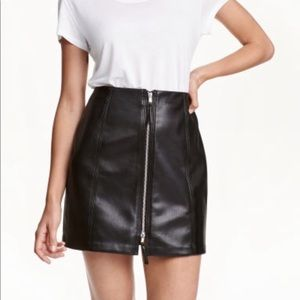 NWT H&M Faux Leather Skirt